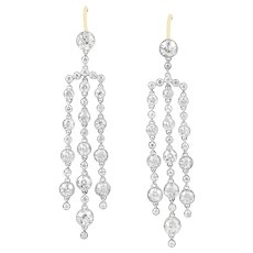 A Pair Of Tassel Diamond Drop Earrings