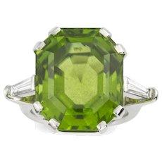 A Single Stone Peridot Ring