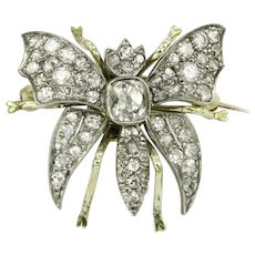 A Late Victorian Diamond Set Butterfly Brooch