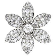 An Early Victorian Jasmine Petal Diamond Brooch