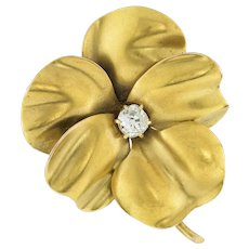 An Antique Gold Pansy Brooch