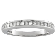 A Half Eternity Diamond Ring