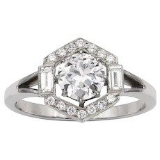 A Diamond Hexagonal Cluster Ring