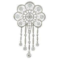 An Edwardian Diamond Openwork Brooch/pendant
