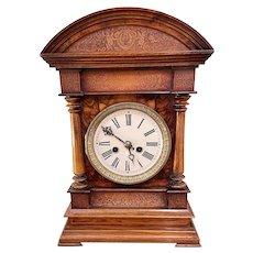 Outstanding Quality Antique Victorian Burr Walnut Bracket Clock