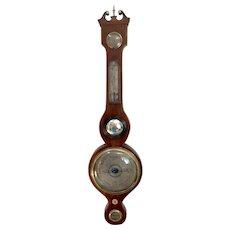 George III Antique Mahogany Banjo Barometer