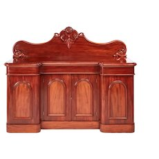Quality Victorian Carved Mahogany Sideboard