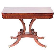 Regency Antique Mahogany Card Table
