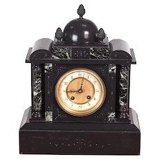 Antique Victorian marble eight day striking mantel clock