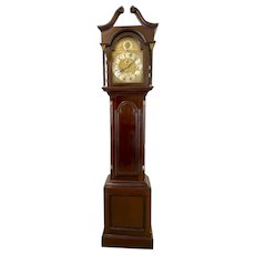 Quality Antique Mahogany Eight Day Grandfather Clock on Eight Bells