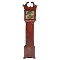 Magnificent George II Brass Face Red Walnut Longcase Clock