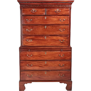 Antique George III Mahogany Chest on Chest