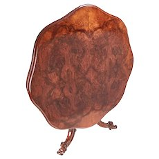 Finest Quality Antique Burr Walnut Shaped Centre Table