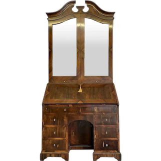 Fine Antique 18th Century Rosewood Bureau Bookcase
