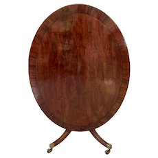 Large Antique George III Antique Mahogany Oval Breakfast Table