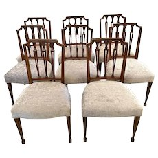 Antique Set of Eight Quality Victorian Carved Mahogany Dining Chairs