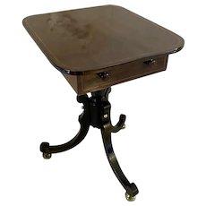 Antique regency rosewood lamp table