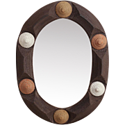 Tramp Art Mirror, Late 19th / Early 20th Century