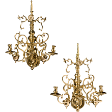 18th Century Dutch Brass Sconces