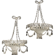 Pair of Beaded Crystal Sconces