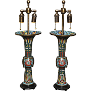 Pair of cloisonne vases, Japan, late 18th century