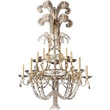 Gilt Bronze & Crystal Chandelier by Maison Bagues
