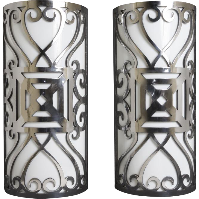 20th century polished iron sconces marvin alexander inc for 14 wall street 20th floor new york new york 10005