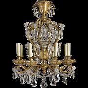 Gilt Bronze & Crystal Chandelier by Jansen