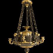 Charles X Bronze Chandelier
