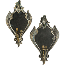 Pair of Venetian Mirrored Sconces