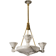 Swedish Alabaster Chandelier