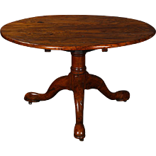 Fruitwood tilt top Breakfast table on tripod base