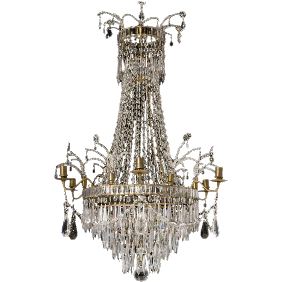 19th Century French Crystal Chandelier Marvin Alexander