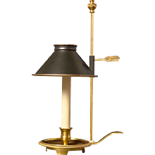 Gilded bronze one light chamberstick bouillotte
