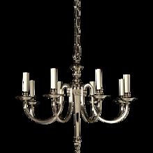 ADAM Style silvered bronze eight light chandelier