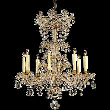 MARIE-ANTOINETTE Style beaded amethyst and clear crystal chandelier. Lead time 14-16 weeks.