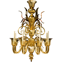 """""""FIAMMA"""" Venetian glass eight light chandelier"""
