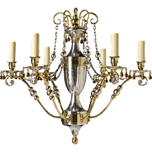 Directoire-style Six Light Chandelier