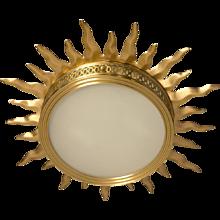 """""""SUNBURST"""" Motif Gilded Bronze Light"""