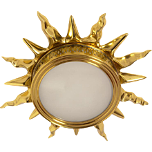 """SUNBURST"" Motif Gilded Bronze Light, Single Light"