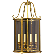 GEORGIAN Style gilded bronze four light lantern