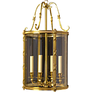 GEORGIAN Style gilded bronze five light lantern