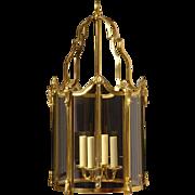 LOUIS XV Style gilded bronze four light lantern.