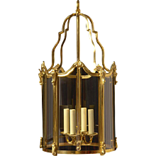 LOUIS XV Style gilded bronze four light lantern.
