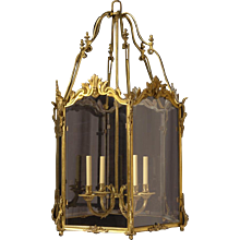 LOUIS XV Style gilded bronze four light lantern