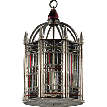 "Murano glass six light ""Birdcage"" Motif lantern"