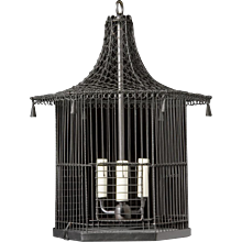 """MIKADO"" Pagoda style wire worked bird cage lantern"