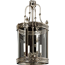 """ARUNDEL"" Nickeled brass four light round lantern"