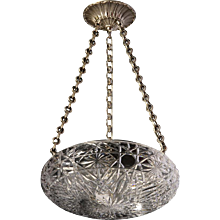Cut crystal three light pendant