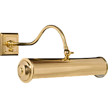 Gilded bronze and brass two light picture light